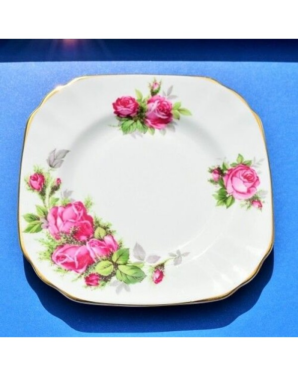 TUSCAN MOSS ROSE TEA PLATE