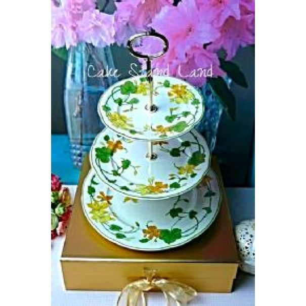 (OUT OF STOCK) VILLEROY & BOCH GERANIUM CAKE STAND