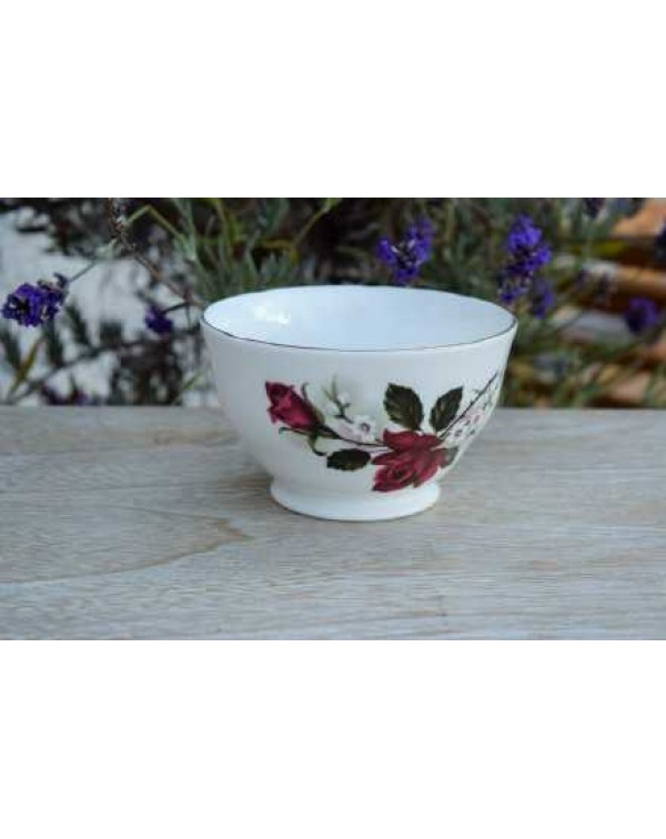 VINTAGE ROSE SUGAR BOWL