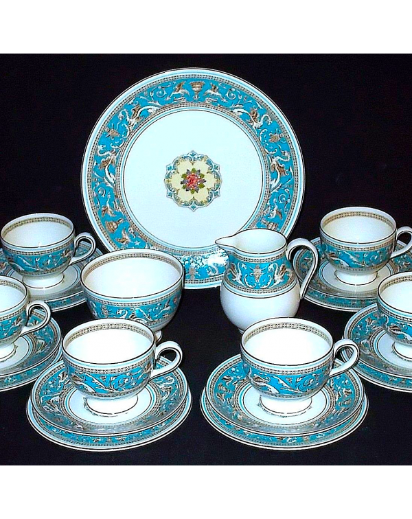 (OUT OF STOCK) WEDGWOOD FLORENTINE TEA SET