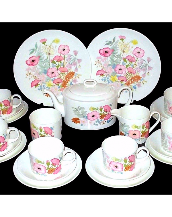 (OUT OF STOCK) WEDGWOOD MEADOW SWEET TEA SET WITH ...