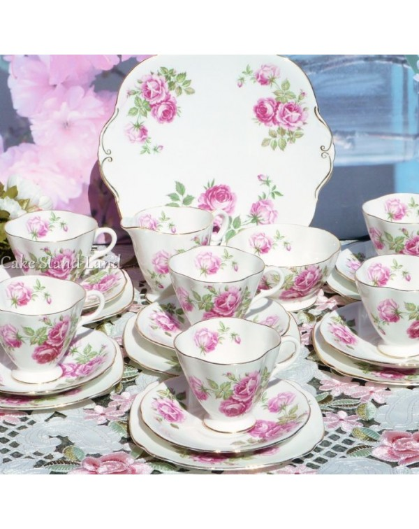 (OUT OF STOCK) WINDSOR LARGE PINK ROSES VINTAGE TE...