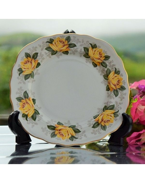 (OUT OF STOCK) YELLOW ROSE TEA PLATE