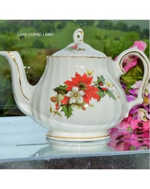 (OUT OF STOCK) SADLER POINSETTIA ONE CUP TEAPOT