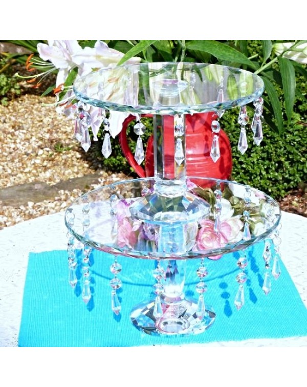 (OUT OF STOCK) SET OF TWO CRYSTAL GLASS DROPLET CA...