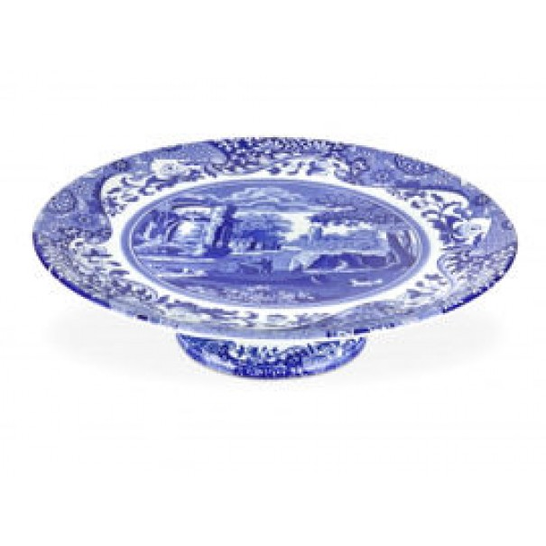 (OUT OF STOCK) SPODE BLUE ITALIAN PEDESTAL CAKE STAND