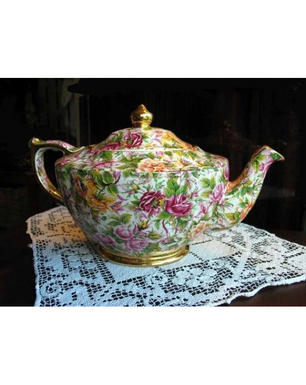 (OUT OF STOCK) SADLER PINK CHINTZ VINTAGE TEAPOT