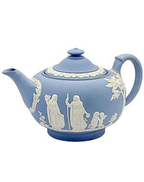 (OUT OF STOCK) WEDGWOOD JASPER WARE VINTAGE TEAPOT